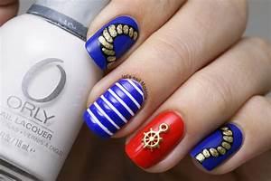 sea marine boat nail art :) nail art by Let's Nail Moscow ...