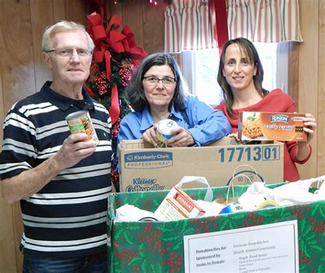 ornish program alumni donate to soup kitchen benedictine