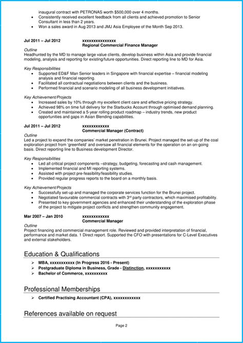How To Write A Professional Cv Sles by Accountant Cv Exle And Writing Guide Get More Interviews