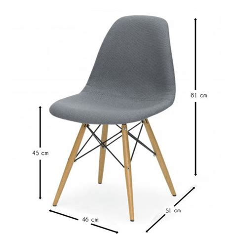 chaise eames grise chaise eames dsw style cover meubles design