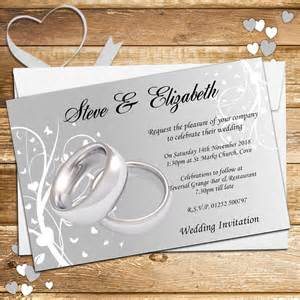 mothers ring 10 personalised wedding invitations day evening n44 silver