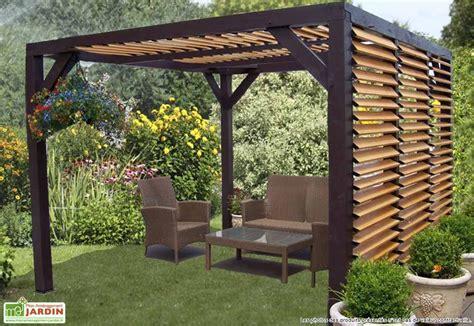 pergola a lames orientables pergola ombra avec lames orientables c 244 t 233 et toit en bois habrita