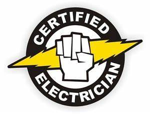 certified electrician hard hat decal label sticker With arc flash decals
