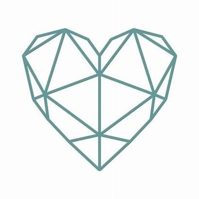 Geometric Heart Svg Clipart Cuttable Vector Tattoo
