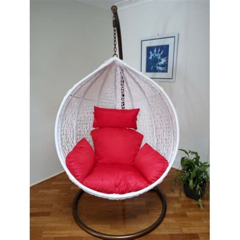 outdoor swing egg trapeze wicker rattan hanging pod chair