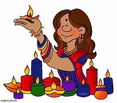 Diwali Clipart Deepavali Celebration Cliparts Clip Families