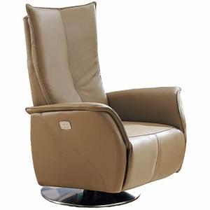 Fauteuil Cuir Camel : fauteuil de relaxation releveur en cuir 2 moteurs vilacosy ~ Teatrodelosmanantiales.com Idées de Décoration