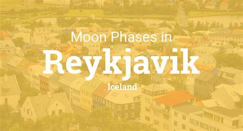 moon phases  lunar calendar  reykjavik iceland
