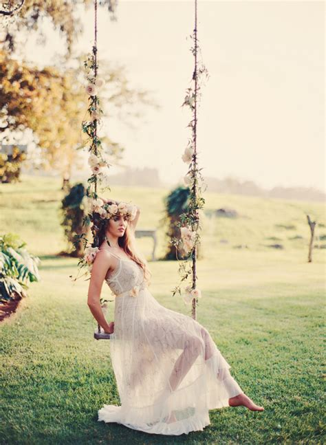 swing   romantic bridal photoshoot