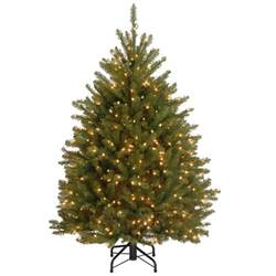 4 5 ft dunhill fir artificial christmas tree with 450 clear lights duh3 45lo the home depot