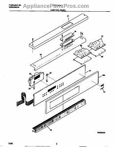 Parts For Frigidaire Feb798wccc  Control Panel Parts