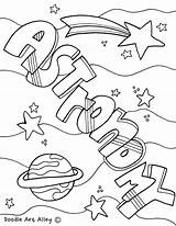 Coloring Science Pages Printable Matter States Meteor Physics Manatee Astronomy Doodles Equipment Printables Sheets Colouring Binder Subject Classroomdoodles Notebook Doodle sketch template