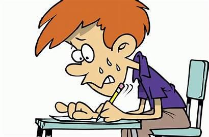 Student Taking Clipart Test Exam Children