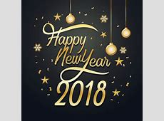 Happy new year 2018 Vector Image 2078765 StockUnlimited