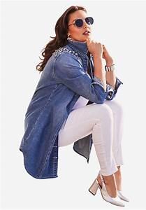 Rhinestone Size Chart Mm Rhinestone Denim Jacket Plus Size Denim Full Beauty