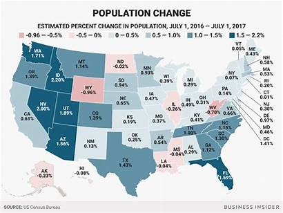 Population State States Each Map Change Total