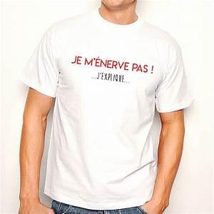 T Shirt Homme Blanc : t shirt homme blanc je m 39 nerve pas j 39 explique ketshooop t shirts anniversaires rigolos ~ Melissatoandfro.com Idées de Décoration