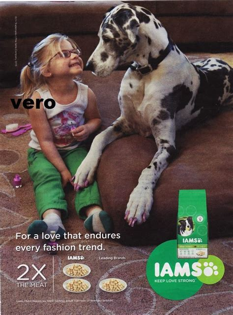 iams dog food  great dane magazine ad print art