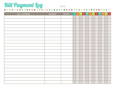 home finance printables the harmonized house project