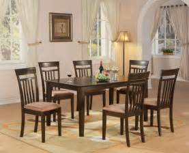 kitchen furniture set 7 pc dining room dinette kitchen set table and 6 chairs ebay