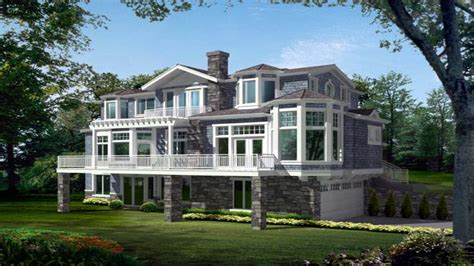 narrow lot house plans lakefront lakefront house plans