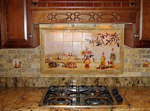 Tuscany kitchen decor decoration ideas for Best brand of paint for kitchen cabinets with italian ceramic wall art