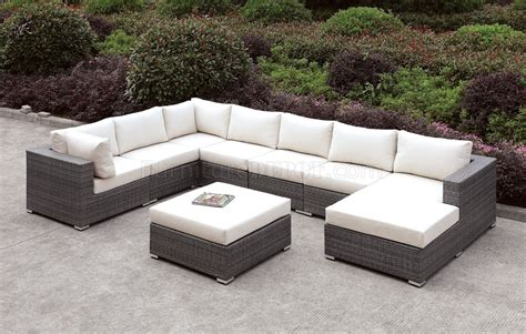 somani cm os2128 4 outdoor u shaped sectional sofa w ottoman