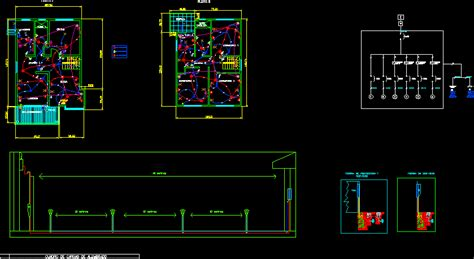 housing electric project dwg full project  autocad