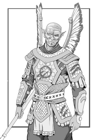 dungeons  dragons hobgoblin coloring page  printable coloring pages