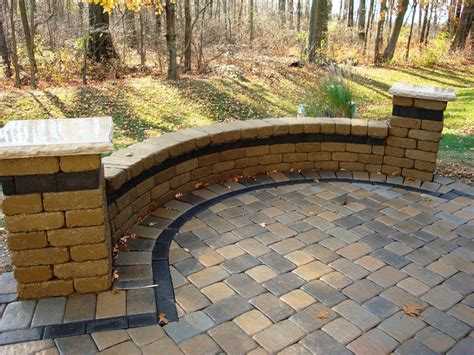 Unilock Patio Cost by Seat Wall With Unilock Camelot Paver Field And Charcoal
