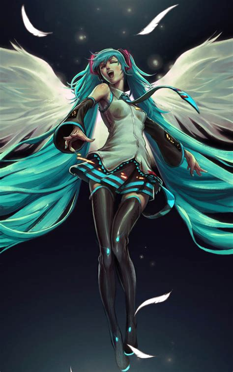 hatsune miku angel  pure  ultra hd mobile