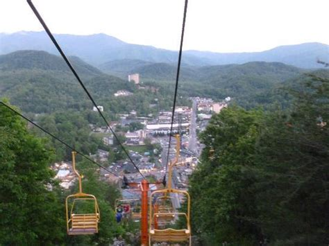 Sky Chair Lift Gatlinburg by Getting Ready To Ride The Chairlift Picture Of