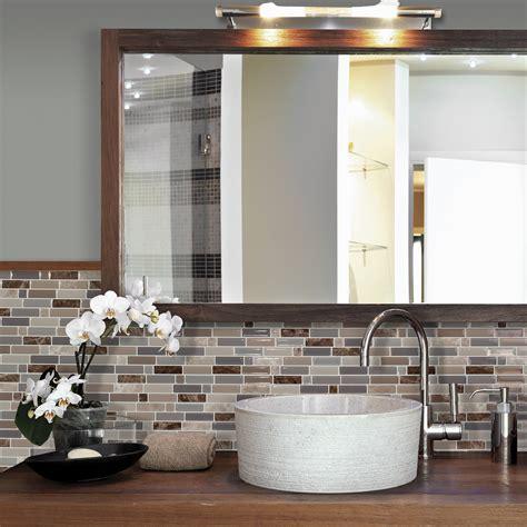 deco cuisine bleu carrelage adhésif pour salle de bain smart tiles
