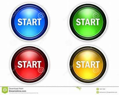 Start Button Avvio Pulsante Colori Buttons