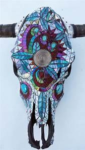 Cow Skull Mosaic  Beaded