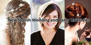 New Modern And Stylish Wedding Party Wear Hairstyles And