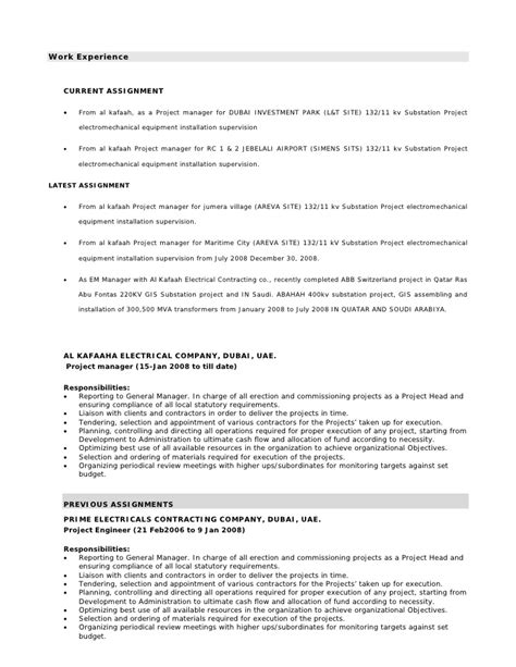 Marine Electrician Resume Objective by Marine Electrical Engineer Sle Resume 14 Sales Resume Updated Electrical Engineer Resume