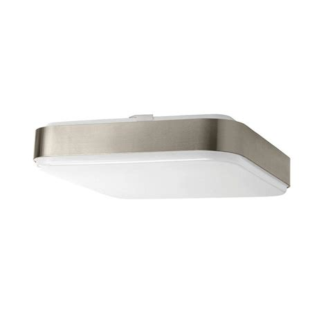hton bay 14 in 1 light brushed nickel led square
