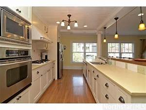 Open galley kitchen design wwwpixsharkcom images for Small galley kitchen open to living room