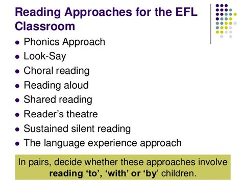 Reading Approaches For An EFL Classroom