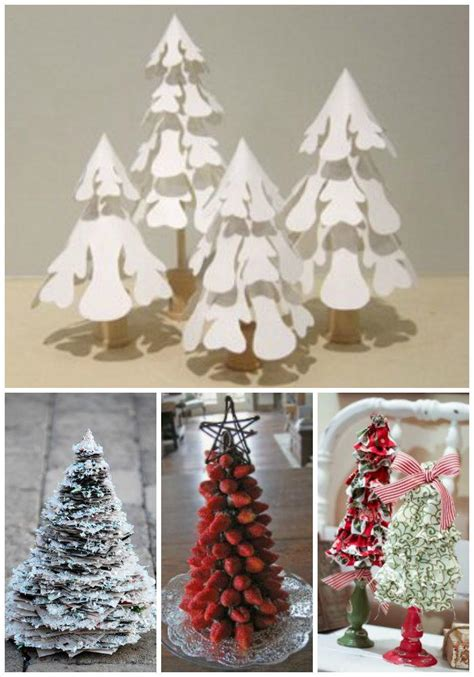 small christmas tree ideas tabletop trees home decor