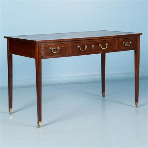 antique leather top desk antique 19th century english mahogany writing desk with