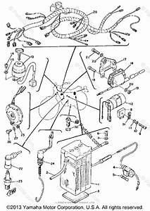 Yamaha Motorcycle 1973 Oem Parts Diagram For Electrical