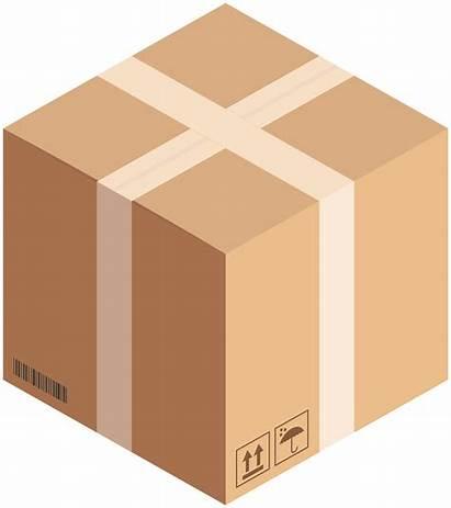 Box Cardboard Clip Cube Clipart Link Clipartpng
