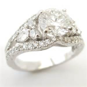 gold moissanite engagement rings cut antique style engagement ring kr122