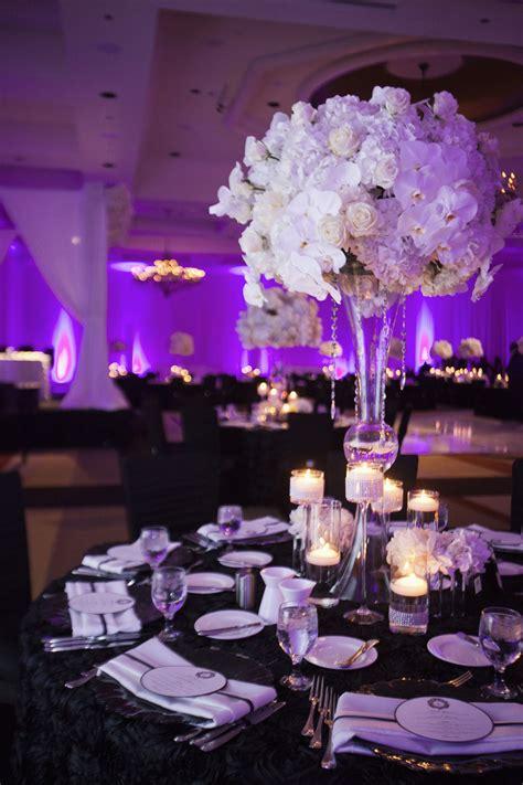 Hydrangeas White Roses Orchids Centerpiece