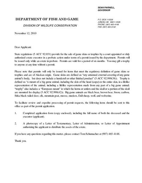 letter of appointment of executor template with sle best photos of sle letter of executor sle executor 29723