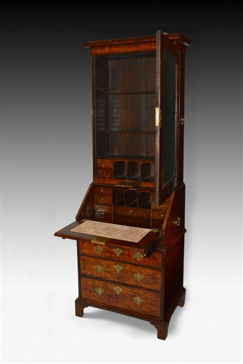 dimensions bureau antique small size walnut bureau bookcase