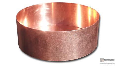 copper planter custom fabricated riverside sheet metal