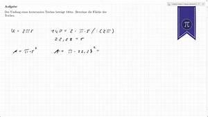 Umfang Berechnen Kreis : kreis fl che aus umfang berechnen youtube ~ Themetempest.com Abrechnung